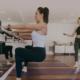 Students doing pilates exercises