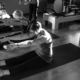Students stretching at pilates studio Mindful Movements